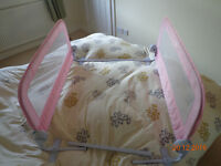Summer double bedrail / bed guard in pink