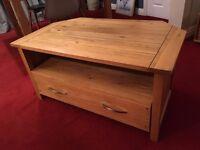 Solid oak tv furniture stand/ unit for sale