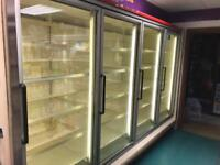 Commercial freezer cabinet.