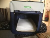 Fabric dog crate, carrier