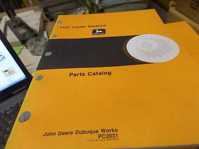 John Deere 210c Backhoe Loader Parts Catalog Manual Pc2031