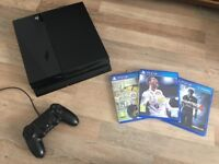 PS4 with one controller and FIFA 18