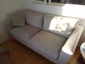 Grey sofa - immaculate condition