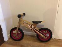 Wooden Balance Bike B'TWIN Cherry Pop