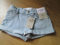 GIRLS ON TREND DENIM SHORTS - BRAND NEW WITH TAGS - AGE 2-3 YEARS