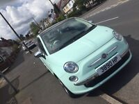 2014 Fiat 500 Lounge Cool Mint Green 1.2