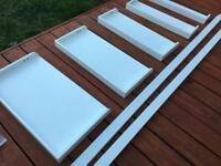 Habitat Jessie White Wide Leaning Bookcase / Shelf / Shelving Unit / Storage