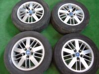 "FORD GALAXY, FOCUS ST, MONDEO, C-MAX, S-MAX, TRANSIT CONNECT 16"" ALLOY WHEELS"