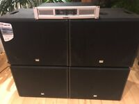 4x 300w DAP sub and QSC amplifier combo