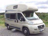 Globecar Vario 499 hi-top 2 berth campervan with fixed double bed in roof