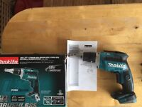 new makita 18v brushless drywall gun dfs452z. drywall screwdriver dfs452 bare tool