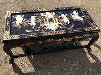 Rectangle Oriental Mother Of Pearl Coffee Table - Project - Restoration