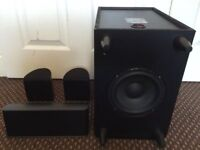 PIONEER 3.1 SPEAKERS, FULLY WORKING, LOUD & CLEAR SOUND, GOOD CONDITION, 1 SUBWOOFER & 3 SPEAKERS.