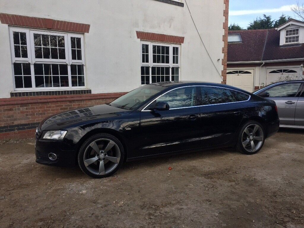 2010 audi a5 2 0 tfsi petrol sportback 5 door black edition wheels s line badges in rugby. Black Bedroom Furniture Sets. Home Design Ideas