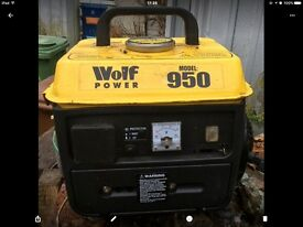 Generator new wolf ,never been used but may need to be serviced
