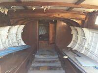 22ft Wooden Klinker boat