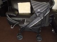 Joie lie flat buggy with matching footmuff & new raincover