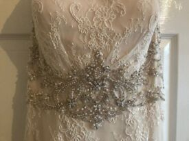 Ronald Joyce Light Gold Wedding Dress!