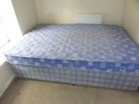 Double Divan Bed with Mattress for sale.