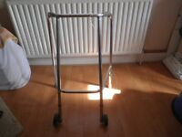 Walking Frame – Zimmer Frame – Front Wheels for elderly & disabled
