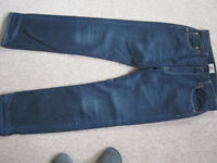 Levi 501 W34-L34 straight leg -button fly- blue- Excellent condition worn twice