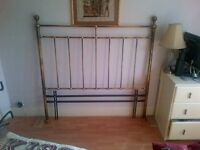 Brass bedstead/headboard suitable for double bed, universal fitting, width=136cm, height=129cm