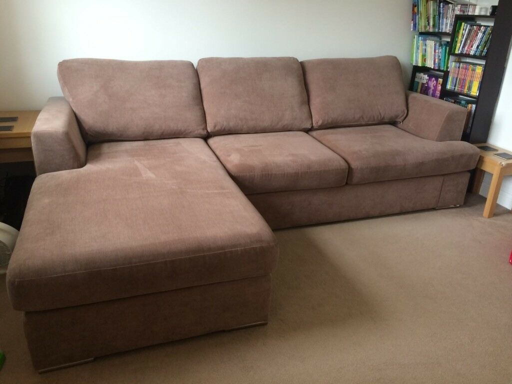 Peachy Dfs Freya 4 Seater Lounger Sofa In Mocha In Dartford Kent Gumtree Machost Co Dining Chair Design Ideas Machostcouk