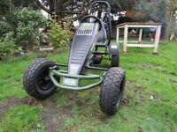 BERG Wrangler Pedal Go Kart With Gears, Rollbar, As new