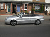 volvo convertible e/hood e/windows c/locking leather in very good condition alloys good privateplate