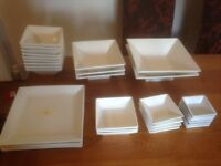 square bowls and dishes
