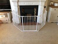 BabyDan Flex Hearth Gate White - fire guard, fire gate