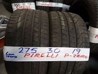 matching PAIR of 275 30 19 PIRELLI P-ZEROS 6MM TREAD £90 PAIR SUPP & FITTED(loads more txt size to