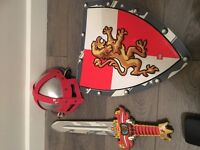 Lego dress up,helmet sword and shield