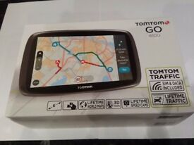 TomTom GO 6100 6-inch Sat Nav with World Maps + Lifetime Map and Traffic Updates