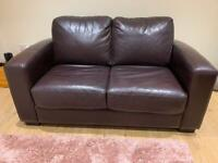 2 Seater Leather Sofa Bed