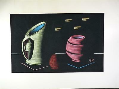 Mischtechnik Bild, Stillleben, signiert A.H., 70 x 47cm,(f13j-79)