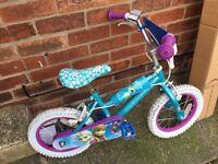"""Girls 14"""" frozen bike"""