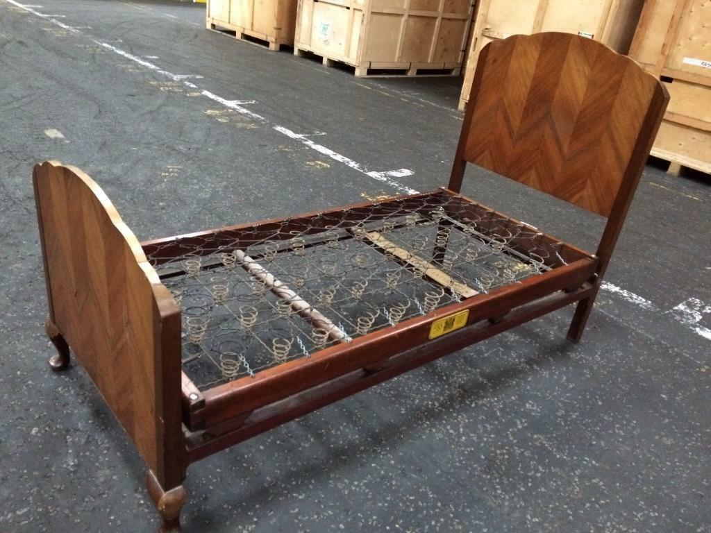 Vintage Staples Co Single Bed Frame Mattress In Granton