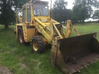 Hymac Digger, with Back Actor and Four in one Bucket Old but Good Worker