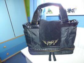 Designer BABY K by Myleene Klass Black,Pink Leopard Baby Changing Bag RRP £60