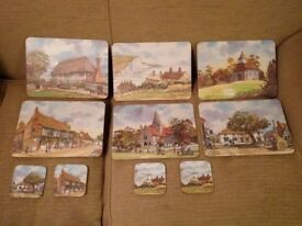 Alfriston and East Sussex scenes Table place mats