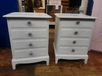 Pair of Stag 4 Drawer Bedsides