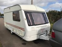 Coachman Genius 390/2 With Mover, 2 Birth Touring Caravan, Damp Free, Cassette Toilet and Shower