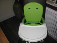 CHILDS DINING BOOSTER SEAT AND TRAY FROM MOTHERCARE