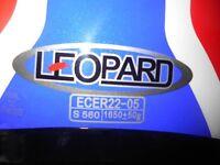 Leopard Flip up Helmet