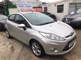 2011 FORD FIESTA 1.4 AUTOMATIC 1 YEAR MOT 2 KEYS HPI CLEAR PARKING SENSORS FINANCE £145 PER MONTH