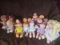 Collection of Vintage Cabbage Patch Dolls