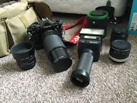 Canon SLR vintage with lenses and other accesories