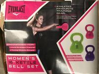 Brand new Everlast ladies women's kettlebell weights sets