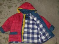 Jacket with removable hood size 3/4